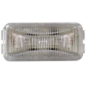 Sealed, Mini Rectangular LED Trailer Clearance, Side Marker Light, 3 Diode - Amber with Clear Lens