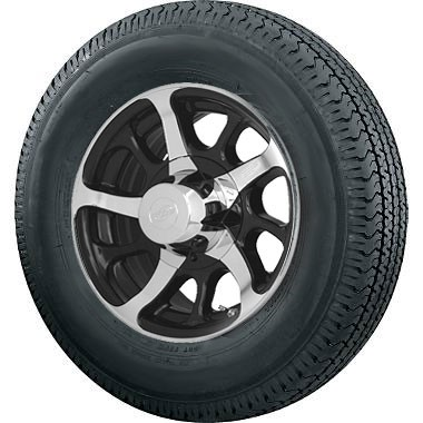 "14 inch Dark Force Trailer Wheel and 215/75D-14"" Bias Ply Special Trailer Tire Assembly"