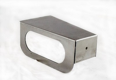 "Trailer Fender Step Right Rear (Curb Side) 4"" x 5.5"" x 9.5"" x 2.5"", 14 Gauge Steel HRP&O #S8RC14-0"