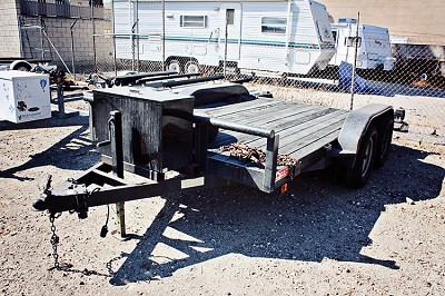 "Flat Bed Trailer Rental 144"" x 77"" with Box"