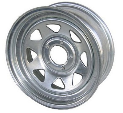 15 x 6 Galvanized Spoke Trailer Wheel  6 Lug
