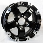 14 x 5.5 Matt Black Grinder Trailer Rim 5 on 4.50 1900 lb Capacity with Machined Lip