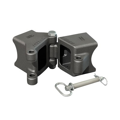"Fulton Weld-On Fold-Away Hinge Kit, 3"" x 3"" Trailer Beam, Raw Finish, Rating 5,000 lb"