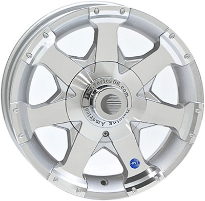14 x 5.5 HWT HiSpec Series06 Trailer Wheel 5 on 4.50 with Center Cap