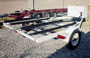 Used 2005 Longrun Double Jet Ski (PWC) Trailer, White, For Sale.