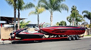 2012 Shadow SLBT Trailer with 2006 Commander Boat and (2) 2009 Yamaha Waverunners