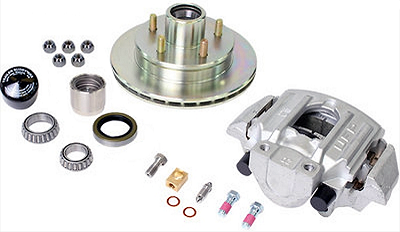 UFP by Dexter Zinc+ Hub, Stainless Steel Ventilated Rotor And Stainless Steel Caliper Kit K71-088-05 (one wheel end)