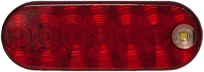 LumenX® Oval Red LED Combo S/T/T & Back-Up Light by PM # M880-7