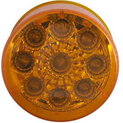 Sealed, Miro-Flex, 2 in Round, Amber LED Trailer Side Marker, Clearance or ID Light, 9 Diode #MCL50AB