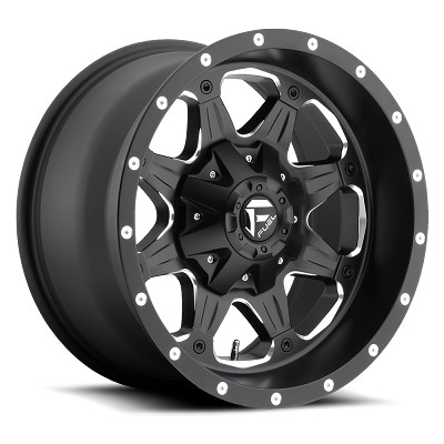 18 x 9 Fuel Matte Black & Milled Boost D534 Aluminum Wheel, 5x4.5 Lug