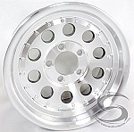 14 x 6 Aluminum Mod Trailer Wheel with Rivets 5 on 4 1/2