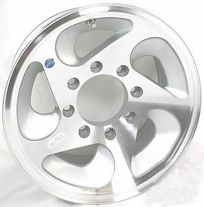 16 x 7 HWT HiSpec Series 05 Aluminum Trailer Wheel HD (8-Lug) 3960 lb Capacity