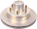 12&quot; Kodiak Rotor (integral) with Hub (Dacromet) #ROTOR/HUB-12-DAC