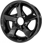 14 x 5.5 Dark Chrome Twisted Star S02VCD Trailer Wheel, 5x4.50 Bolt Pattern