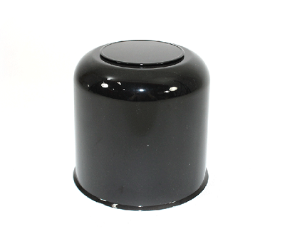 4.25 Black ABS Plastic Center Cap Closed End with Plug S1050-425BB
