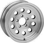 14 x 5.5 Aluminum Modular Trailer Wheel 5 on 4 1/2, 1900 lb Capacity