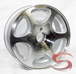 14 x 5.5 Ranger Trail Aluminum S96 Boat Trailer Wheel with Open Cap