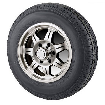 ST20575R14 in LRC Radial Trailer tire with Aluminum  SAWTOOTH Trailer Wheel Assembly