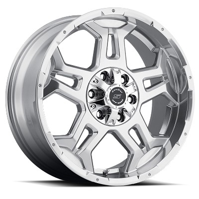 18x9 S37 Stealth Sendel Aluminum Wheel (Polished w/Clear Coat), 5x4.50 Lug, 2200 lb Capacity