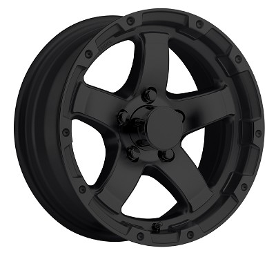 15x6 T08 Matte Black Aluminum Trailer Wheel 5x4.5 T08-56545MB