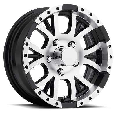 15x6 Aluminum T13 Sendel Trailer Wheel, 5 on 5  Lug, 2150 lb Load Capacity