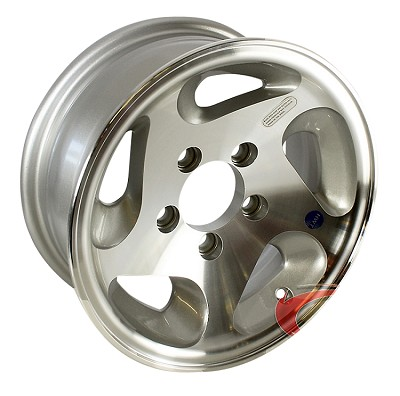 15 x 6 HiSpec Series05 Aluminum Trailer Wheel 5 on 4.50 - 2150 lb Capacity