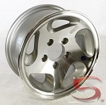 14 x 5.5 HiSpec Series05 Aluminum Trailer Wheel 5 on 4.50 Bolt Pattern