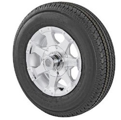 ST175/80R13 Radial Trailer Tire and Series 6 Aluminum 5x4.50 Wheel