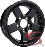14 x 5.5 Hi Spec HWT Series07 Aluminum Trailer Wheel 5x4.50 - Black