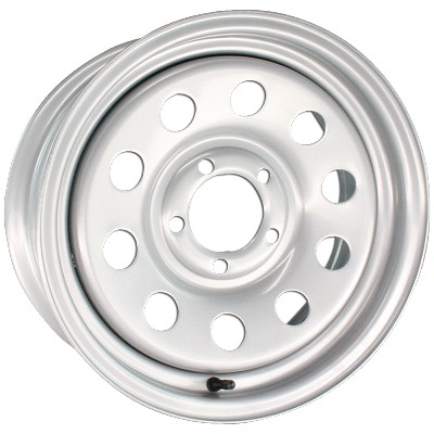 14x6 Steel Silver Modular Trailer Wheel 5x4.50  2746012-33141