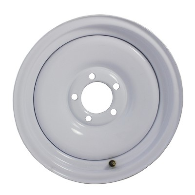 15 x 6 Solid Steel Trailer Wheel 5x4.5 White Painted