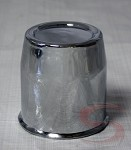 3.19 in Plastic Chrome Plated Closed End Center Cap for Trailer Wheels