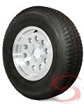 14 x 6 Aluminum Modular Trailer Wheel 5x4.50 w/ ST205/75R14 LR C Trailer Tire Assembly