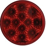 Miro-Flex Red 4 in Round, LED Trailer Stop/Turn/Tail Light, 12 Diode, 12 Volts, #STL23RB