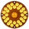 7 inch Round Transit LED Turn Signal Light, 31 Diode, Amber