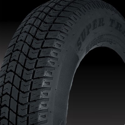 ST175/80D13 inch Bias Ply Tread Star Trailer Tire LR C, 1360 lb Max Load