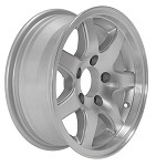14 x 5.5 T02 Sendel Aluminum Trailer Wheel 5 on 4.50 Bolt Circle, 1,900 lb Capacity