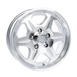 14 x 5.5 Aluminum T04 Trailer Wheel 5x4.50 Bolt Pattern