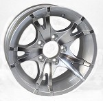 14x5.5 Viper Silver Machined Aluminum T07 Trailer Wheel 5 Lug 1900 lb Max Load