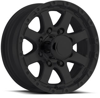 17 x 8  Matte Black Aluminum Sendel T08 Trailer Wheel, 6 on 5.50, 2850 lb Max Load