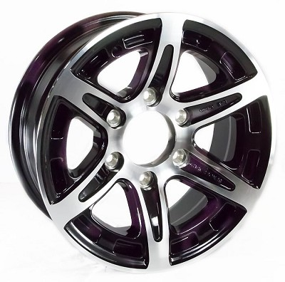 16x6 T12 Sendel Aluminum Trailer Wheel, 6 on 5.50 Lug, 3200 lb Max Load