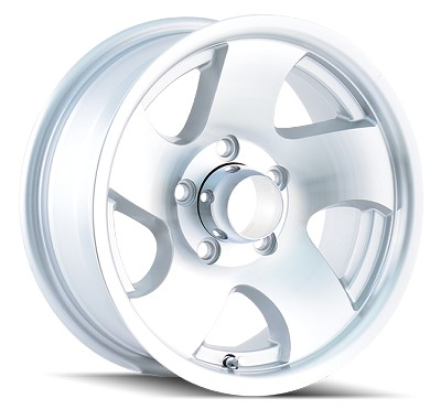 14 x 6 Ion10 Aluminum Trailer Wheel w/ Open Center Cap