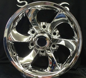 15 inch Twisted Star Chrome Aluminum Trailer Rim 6 Lug