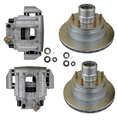 UFP DB-35, 6-Lug Disc Brake Kit w/Aluminum Calipers, Single Axle Kit