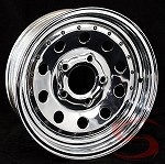 14 x 6 Chrome Modular Trailer Wheel with Rivets, 5 on 4.50 Bolt Pattern
