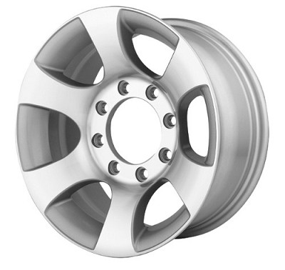 15 x 7 GBC2000 Aluminum Trailer Wheel 6 on 5.50, 2800 lb Capacity