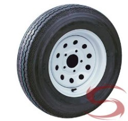 14 inch White Painted Modular Trailer Wheel and 185/75R14 Radial Special Trailer Tire Assembly