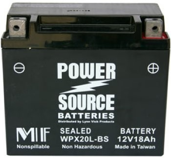 Sealed Yamaha XV1700 Motorcycle Battery by Power Source® Model #WPX20L-BS