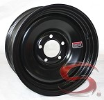 14 x 6 Black Solid Steel Trailer Wheel 5 on 4.50 Bolt Pattern