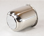 3.30 in Trailer Wheel Center Cap Stainless Steel Open End Plus Plug
